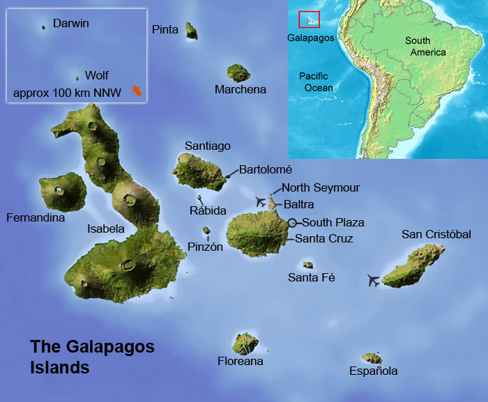 What Are The Islands West Of Ecuador On The Equator